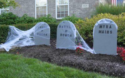 How to Make Halloween Tombstones