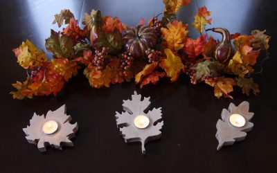 How to Make Fall Leaf Candle Holders
