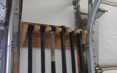 How to Make a Baseball Bat Rack