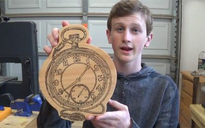 How to Wood Burn a Pocket Watch